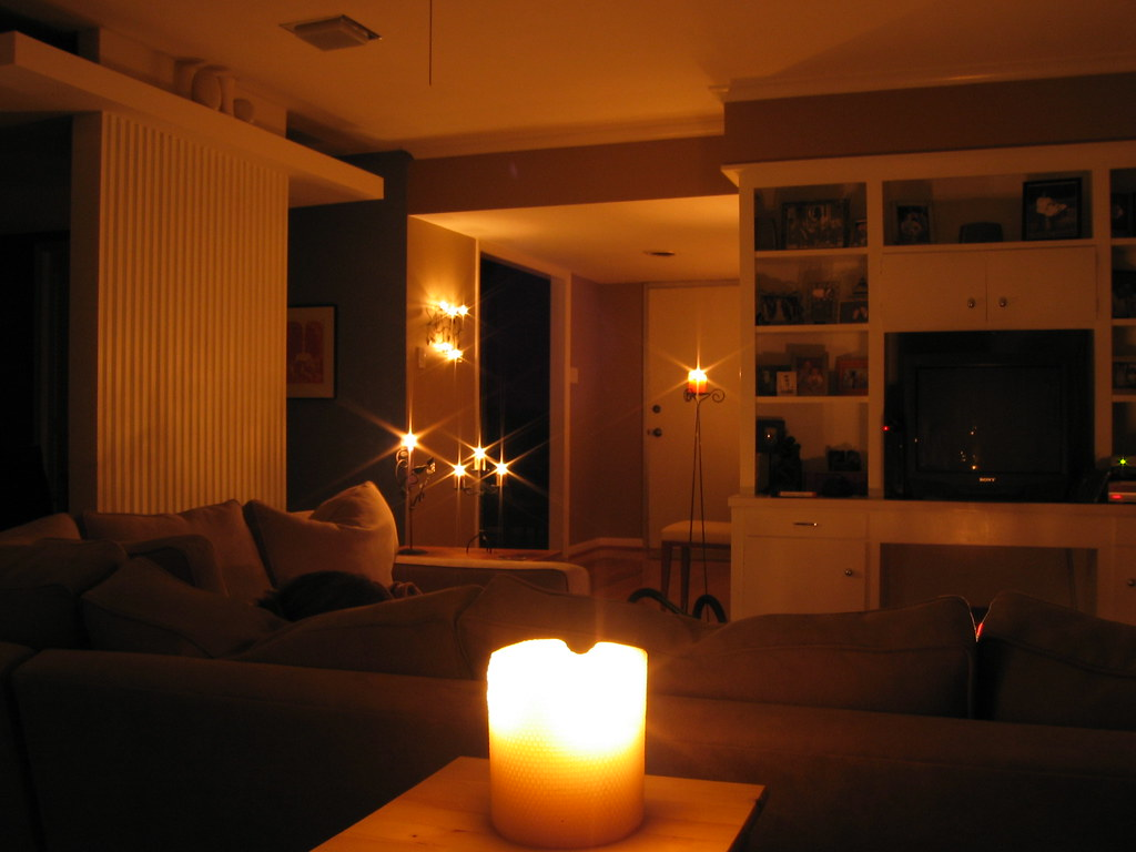 by candle light | living room looking towards the front ...