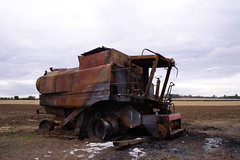 Burnt out combined harvester | by KeithMasonPhotography (a.k.a. Scooter.john)