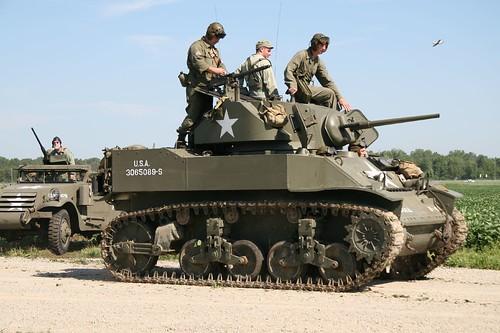 M5 Stuart Light Tank Thunder Over Michigan 2006 D