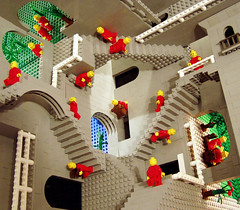 Escher's Relativity in Lego by Andrew Lipson | by idigit_teddy