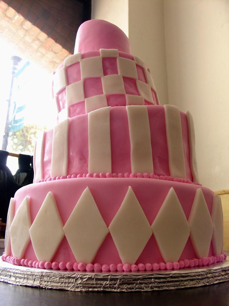Pink Champagne Wedding Cake. | Dr Seuss inspired wedding cak… | Flickr