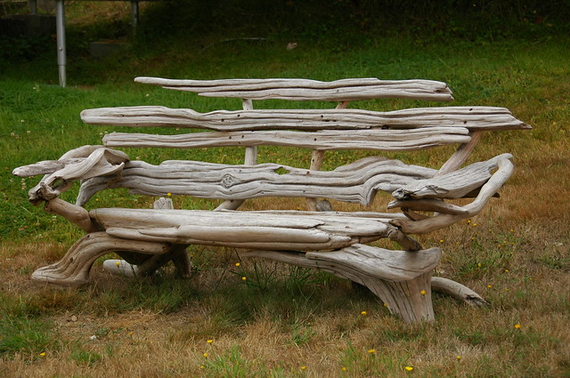 reclaimed bench id driftwood