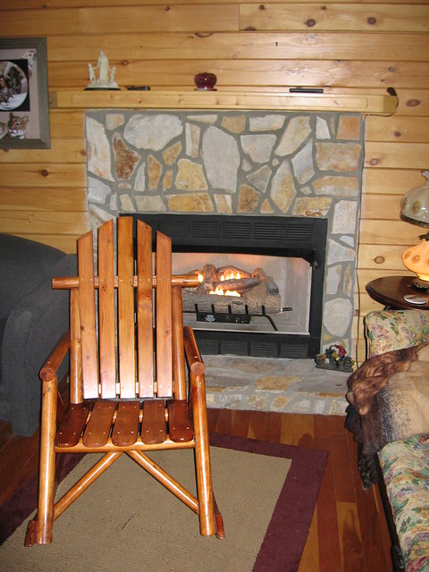 Log Cabin Fireplace Flickr Photo Sharing
