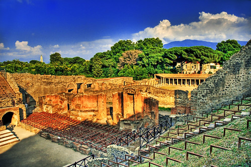 Amphitheatre in Pompeii | by Stuck in Customs