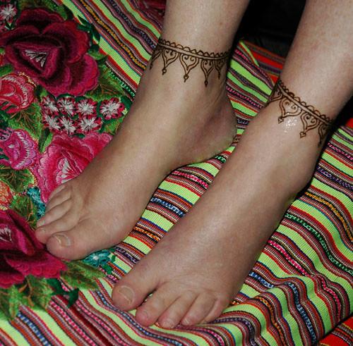 Mehndi Anklet : Henna anklets darcy vasudev flickr