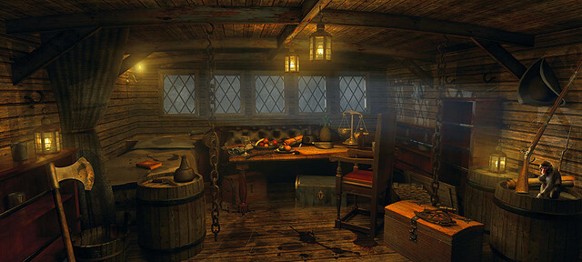 Pirate Cabin 3d 3d Modelling And Rendering Using