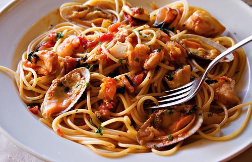 Seafood spaghetti from brescia another sumptous meal - Italian cuisine near me ...