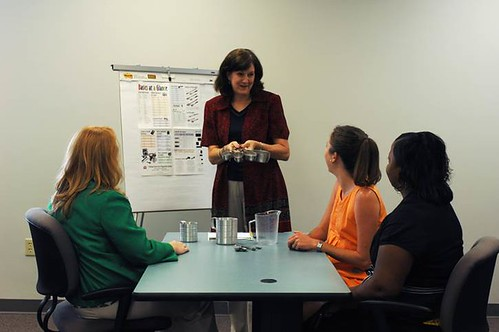 Dietetics interns using their nutrition science education
