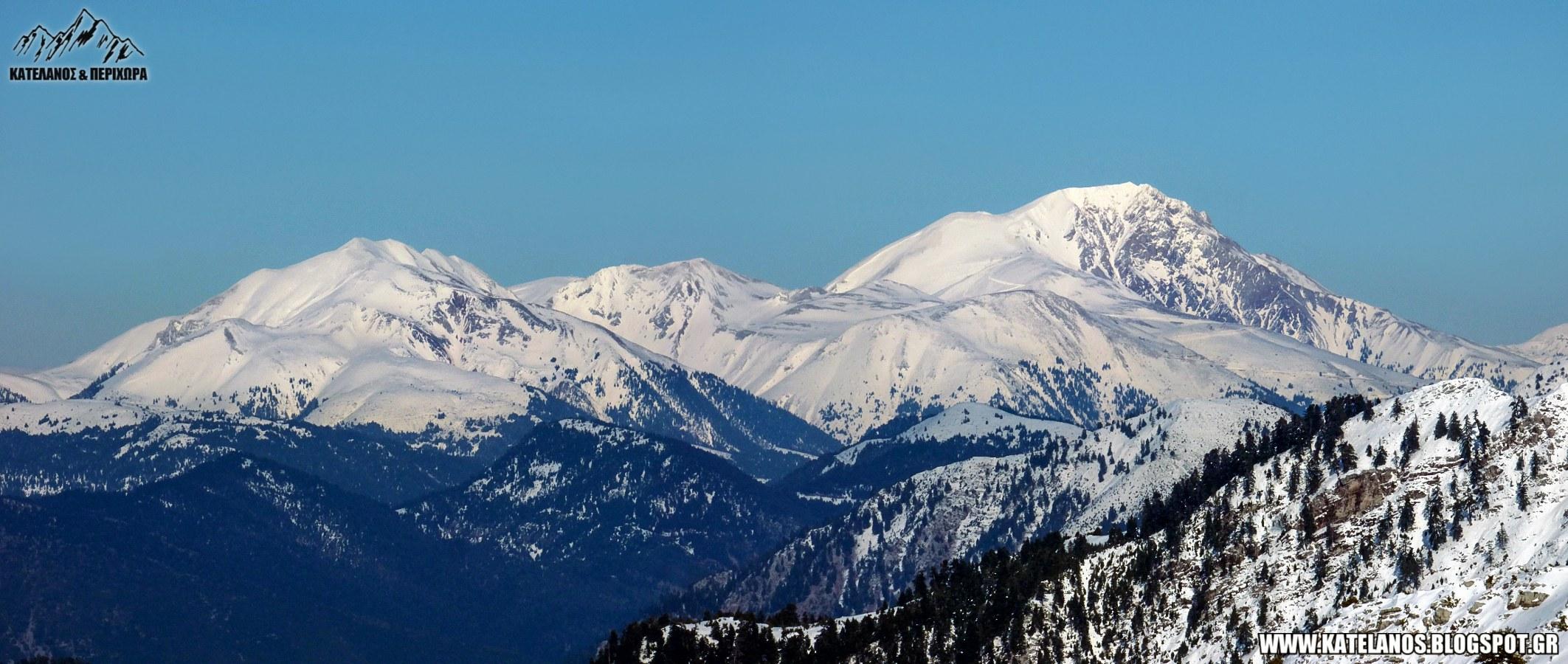 συμπεθερικο βελουχι τυμφρηστος ορος κορυφες χιονι χειμωνας