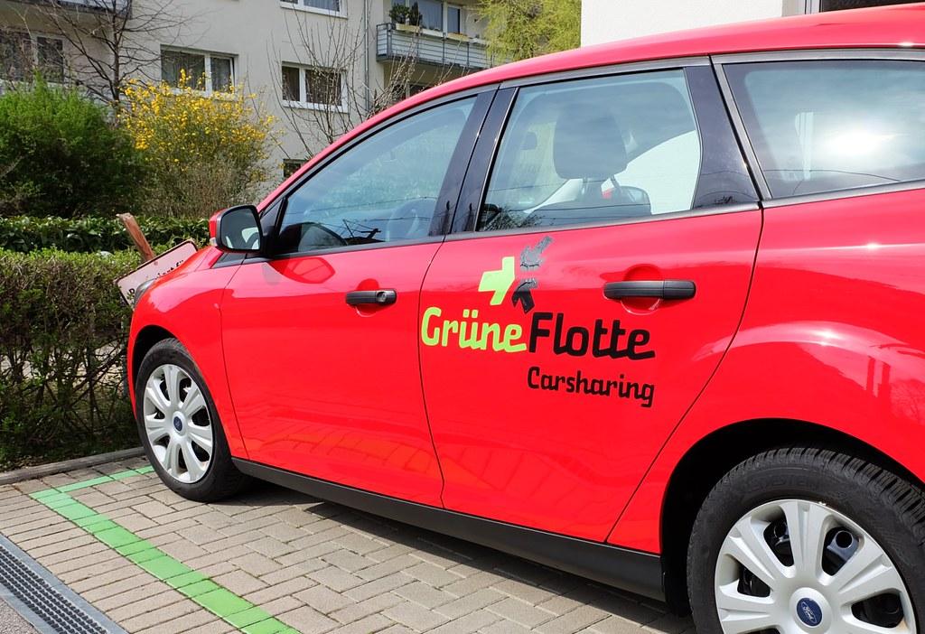 德國城市弗萊堡的汽車共享服務。攝影:陳文姿