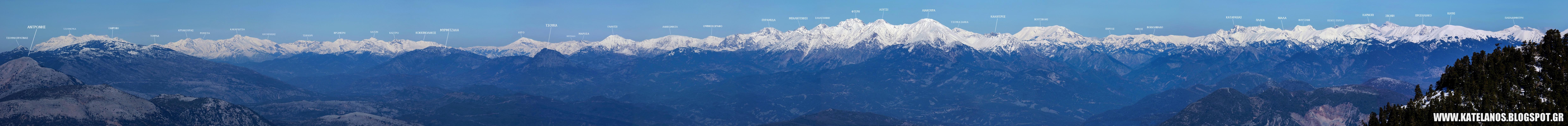 νοτια πινδος κορυφες πανοραμα χιονισμενες βουνοκορφες πανοραμικη φωτογραφια τζουμερκα αγραφα κακαρδιτσα