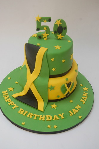 Awe Inspiring Jamaican 50Th Cake Beautiful Birthday Cakes Funny Birthday Cards Online Overcheapnameinfo