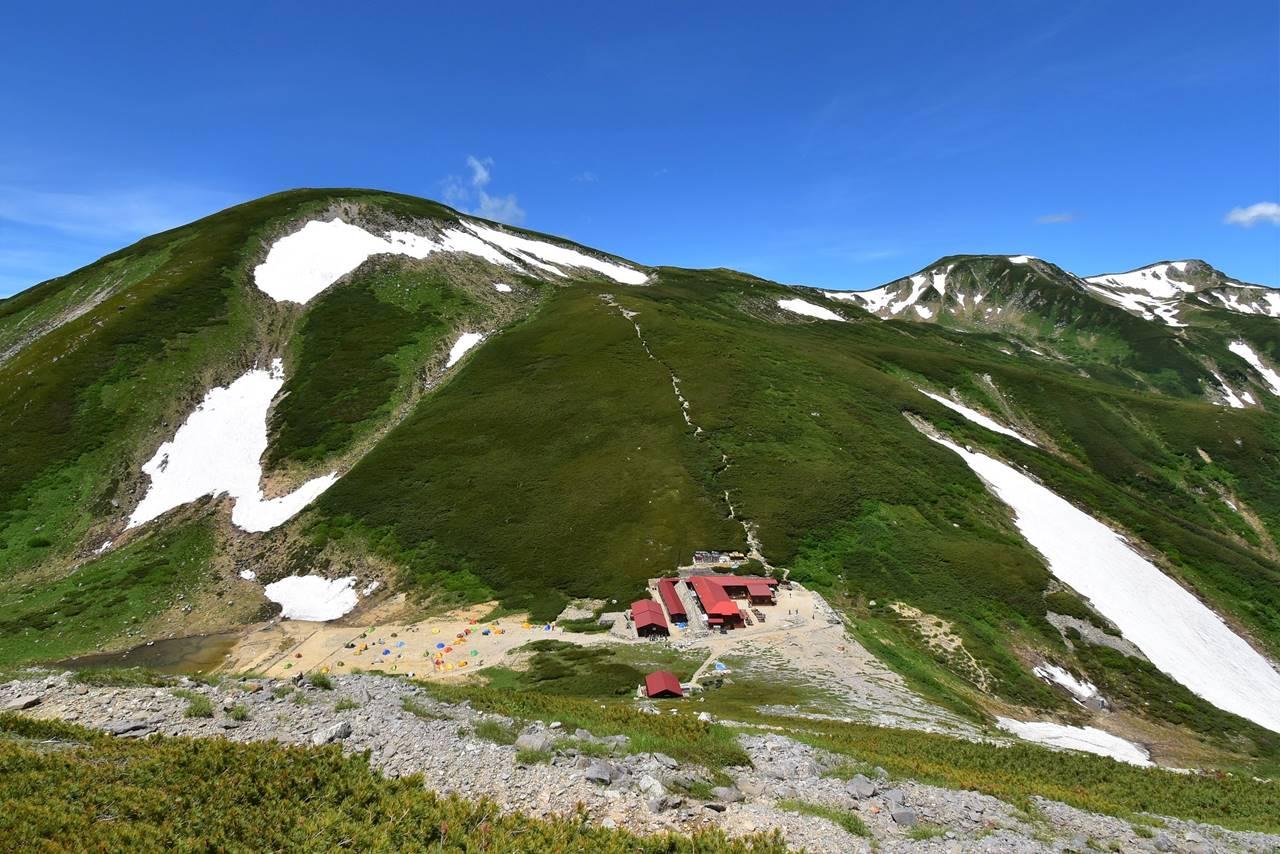 双六岳と双六小屋