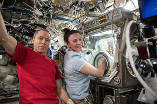 Astronauts Drew Feustel and Serena Auñón-Chancellor | by NASA Johnson