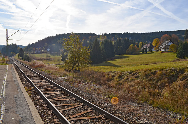 Waiting for the train, Black Forest, Germany