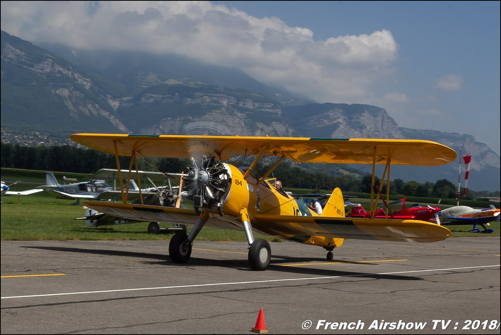 PT-17 Stearman - F-AZST , Grenoble Air Show -Versoud 2018 , Meeting Aerien Meeting Grenoble , Alpes Dauphiné , alpes , Canon EOS , Sigma France , contemporary lens , Meeting Aerien 2018