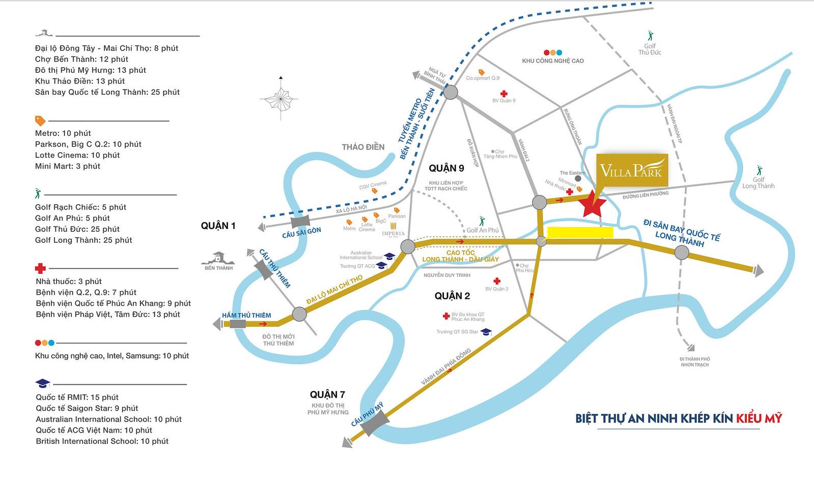 Bản đồ đến Biệt thự quận 9 Villa Park