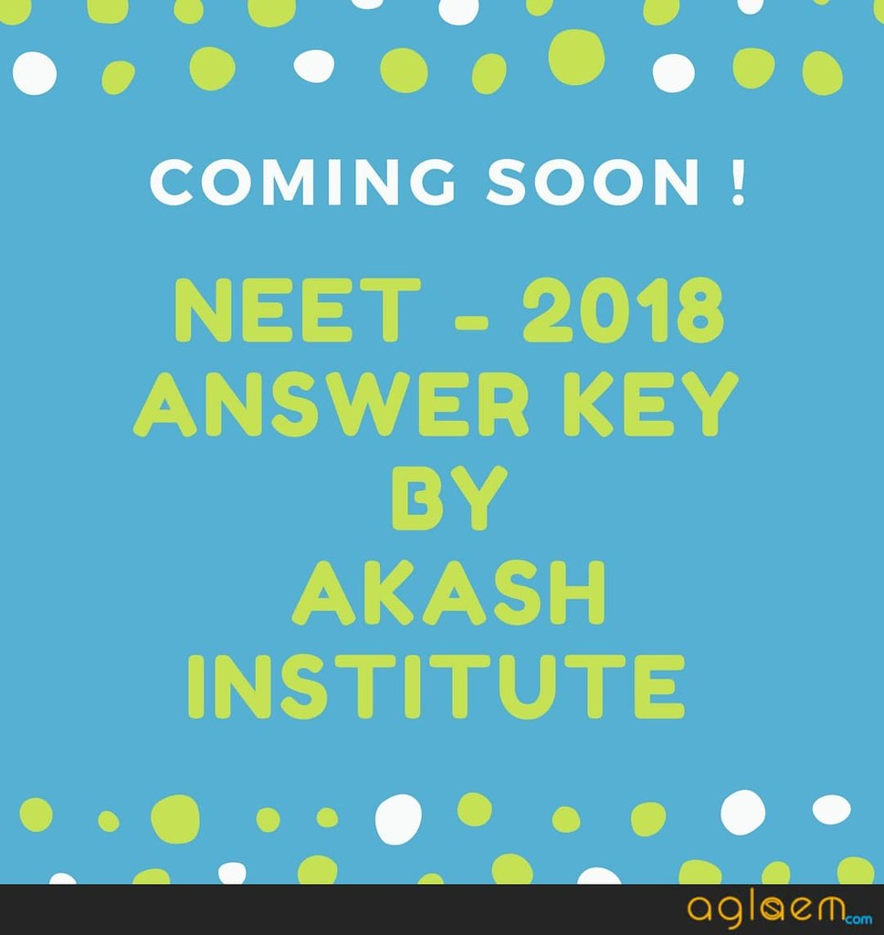 NEET 2018 Answer Key by Aakash