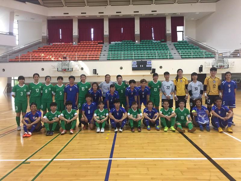 台灣女足與澳門女足進行友誼賽。(足協提供)