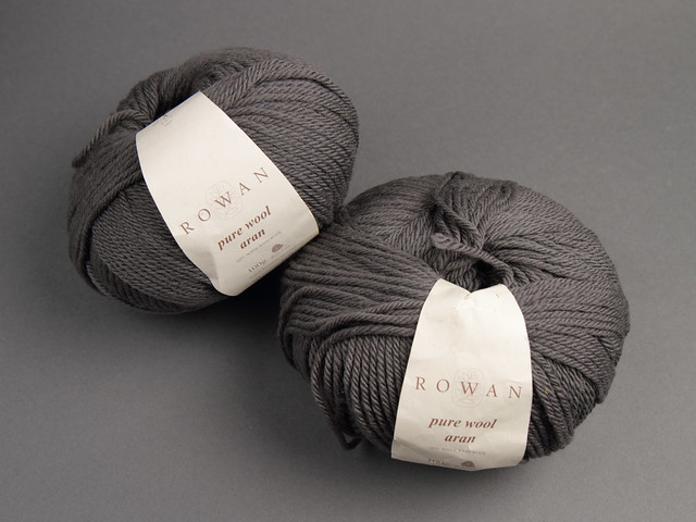 Destash yarn: Rowan Pure Wool Aran 100g – 684 mid grey