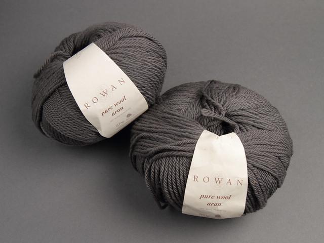 Destash yarn: Rowan Pure Wool Aran 100g – 684 mid grey