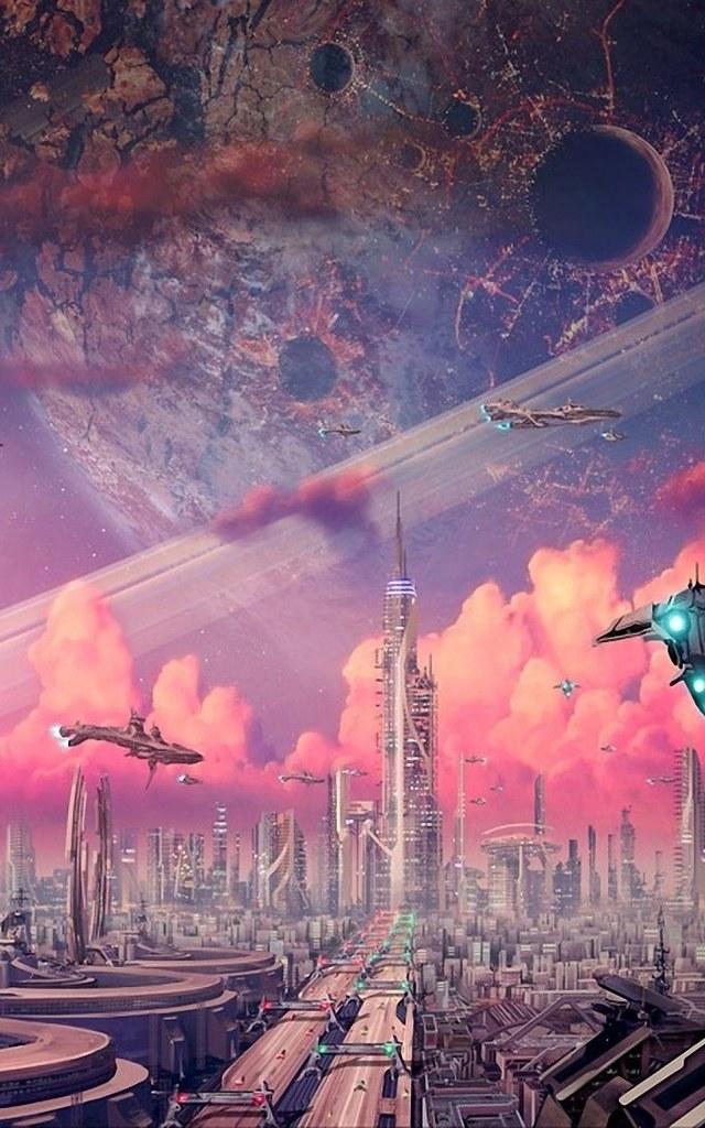 Airship Artwork Science Fiction Android Wallpaper