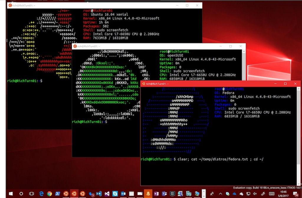 GNU/Linux en Windows 10: Microsoft lanza una nueva