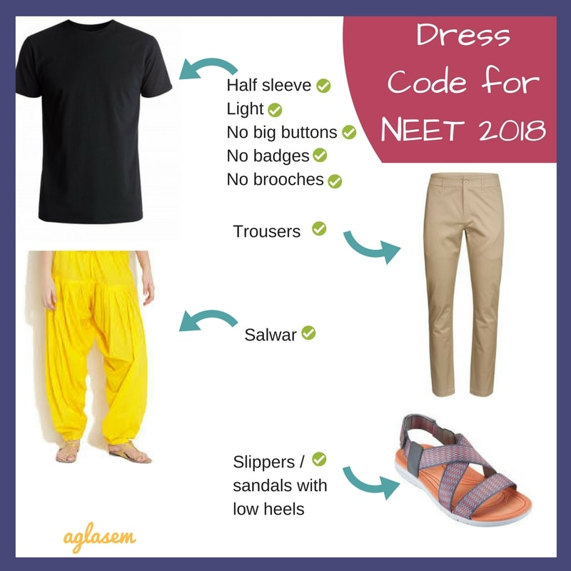 Dress Code for NEET 2018 – Know what you can wear and what you cannot wear