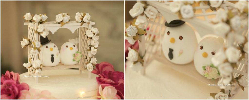 Love birds bride and groom with handmade garden flowers sw… | Flickr