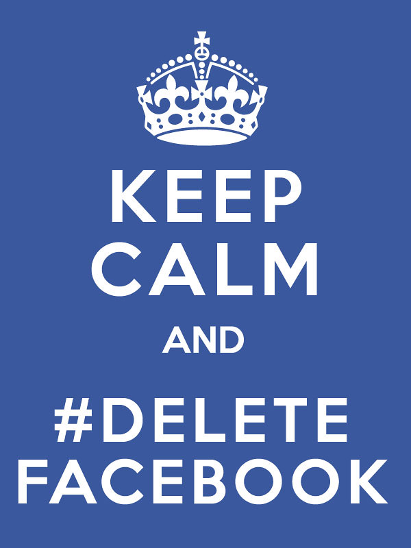 Image result for delete facebook