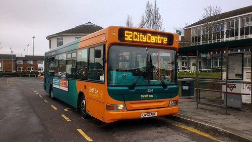 Cardiff Bus 224 224 Was Photographed Waiting Time At