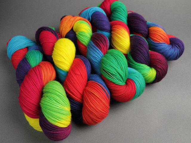 Favourite Sock – hand-dyed pure merino superwash wool 4 ply/sock yarn 100g – 'Lollipop'