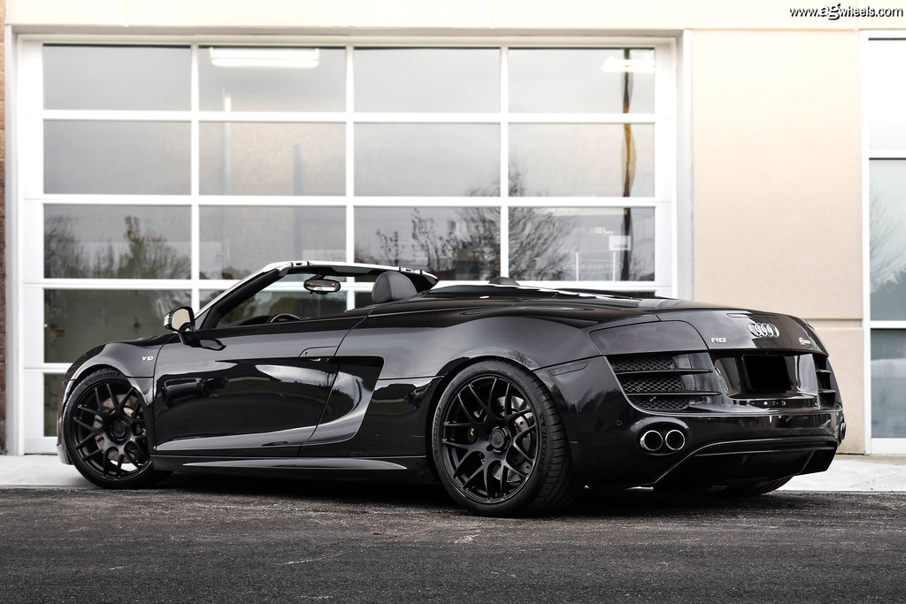 Audi R8 V10 Spyder Matte Black M610 Avant Garde Wheels Flickr