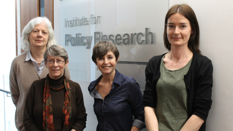 The team involved in the IPR Universal Credit Project: Professor Jane Millar, Fran Bennett, Rita Griffiths and Marsha Wood.