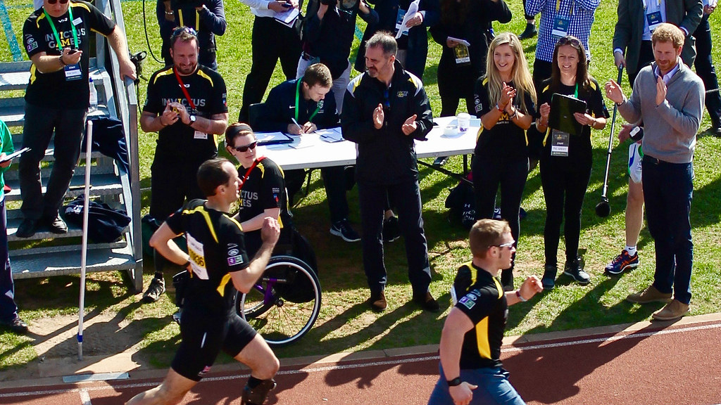 HRH Prince Harry cheers on UK hopefuls for this year's Invictus Games on the University's Sports Training Village.