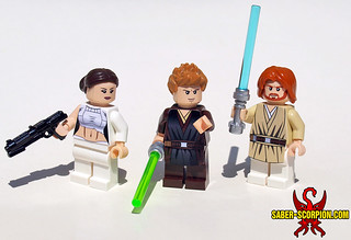 LEGO Attack of the Clones: Padmé, Anakin, and Obi-Wan | by Saber-Scorpion