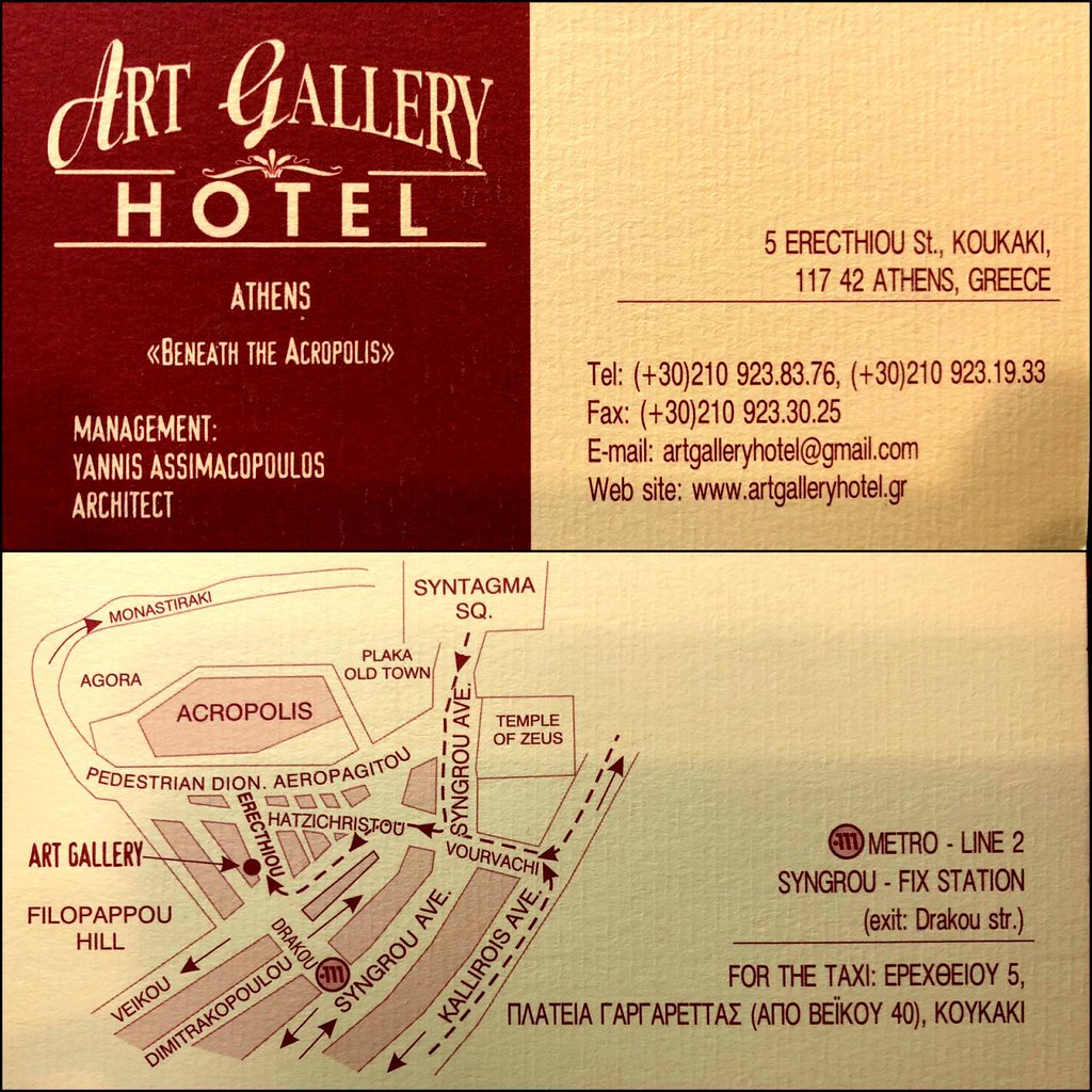 Business card the art gallery hotel with a useful map of flickr business card by robw business card by robw reheart Images