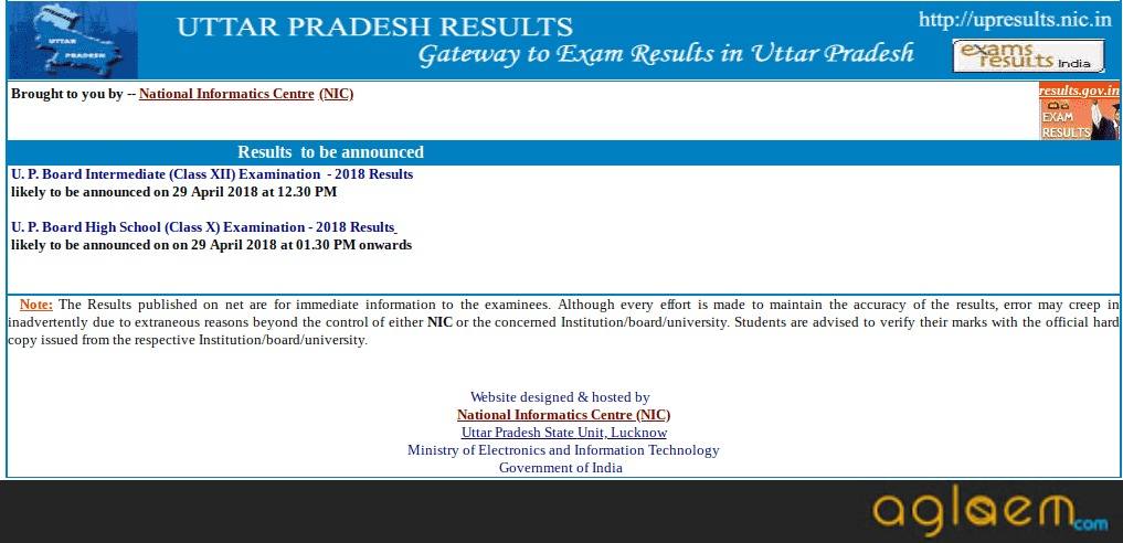 UP Board 12th Commerce Result 2018