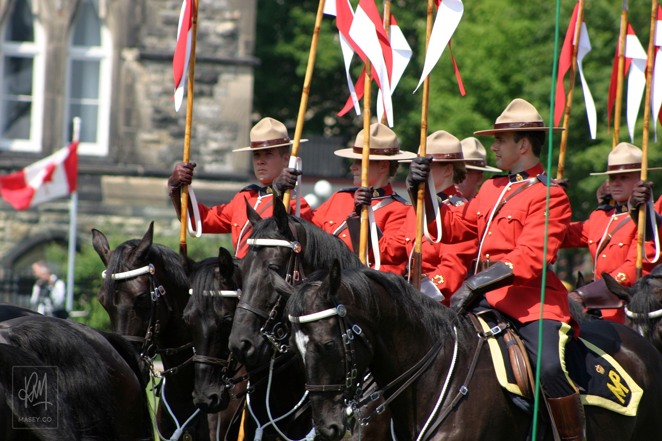 The world famous Royal Canadian Mounted Police Musical Ride