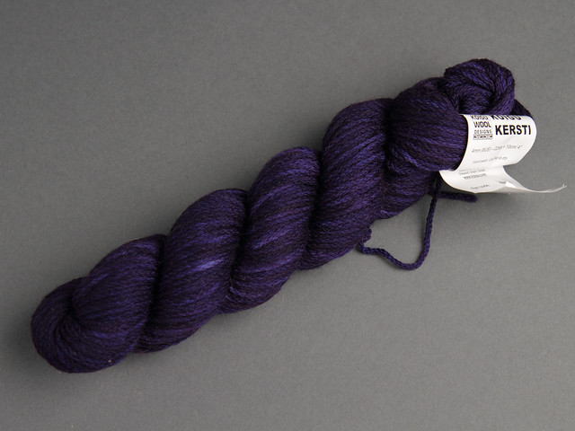 Destash yarn: Koigu Kersti hand-dyed Merino DK 50g – dark purple