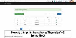 Hướng dẫn phân trang trong Thymeleaf và Spring Boot