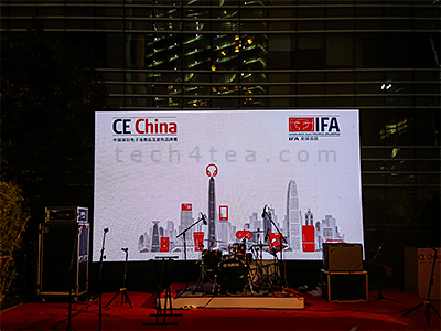 The welcome reception for CE China 2018 was held at The Ritz Carlton in Shenzhen, across the road from the venue of the trade show at Convention & Exhibition Center.