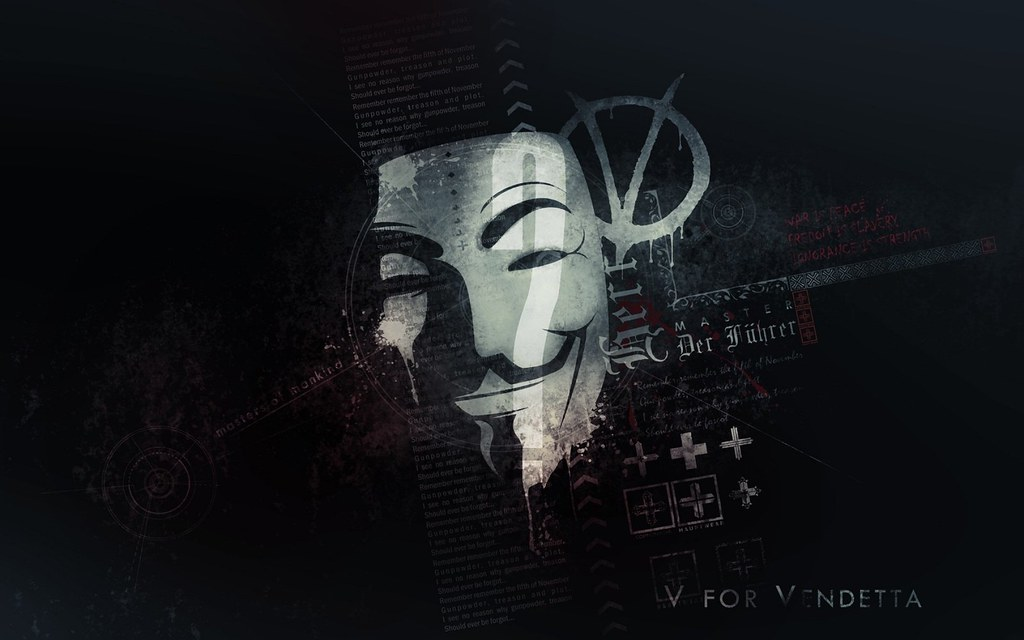 Ajaysinhbapu2310 Anonymous Typography Masks Wallpaper V For Vendetta