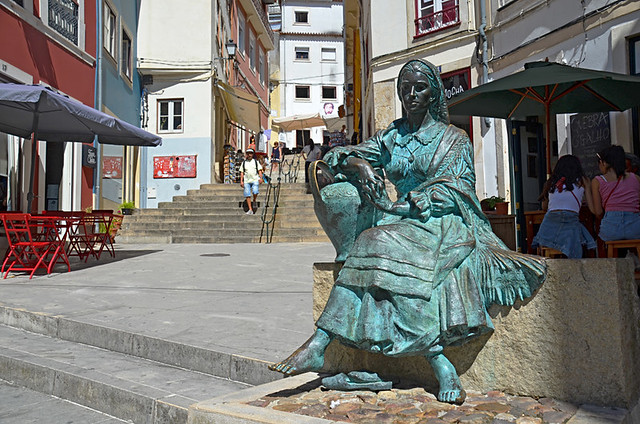 Tricana (woman water carrier) statue, Coimbra