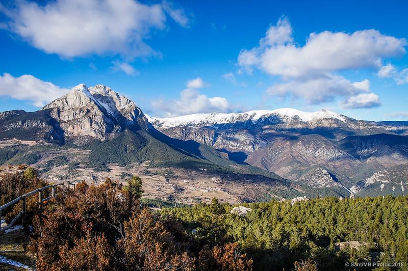 El Pedraforca y el Cadí desde el mirador de la Pleta de la Vila