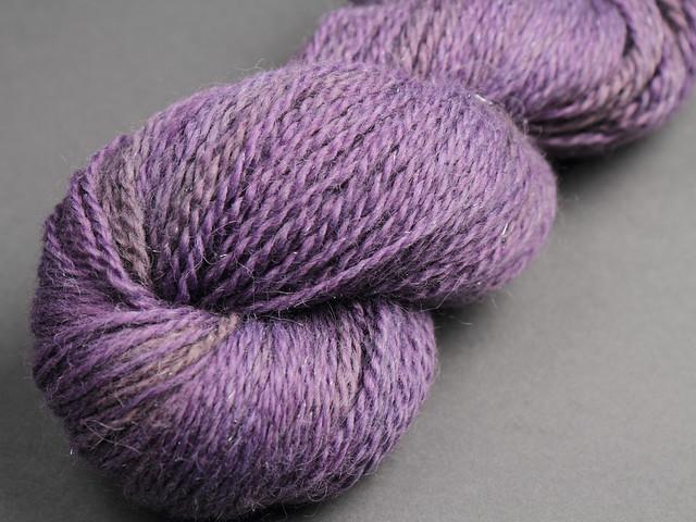 Baby Llama Sparkle aran hand dyed yarn (special edition) 125g – Lavender