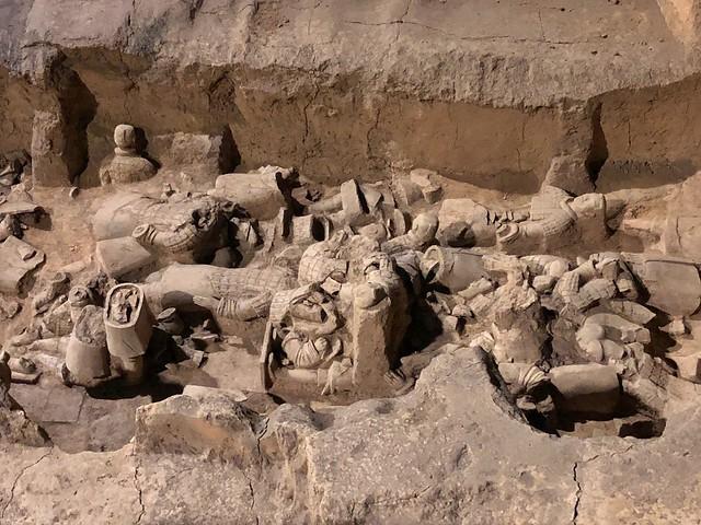 Fosa 3 del Museo de los Guerreros de terracota en Xian (China)