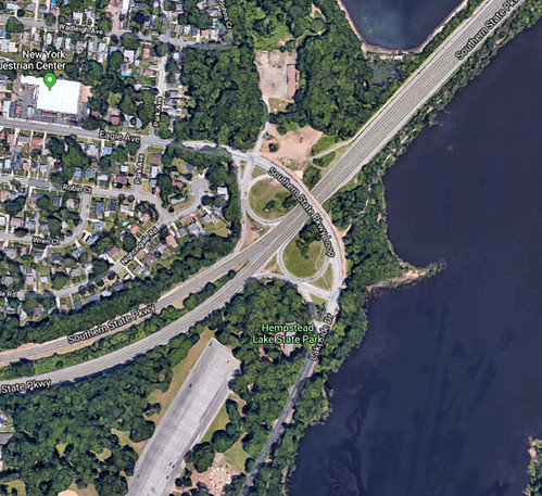 aerial view of Southern State Parkway and Eagle Avenue
