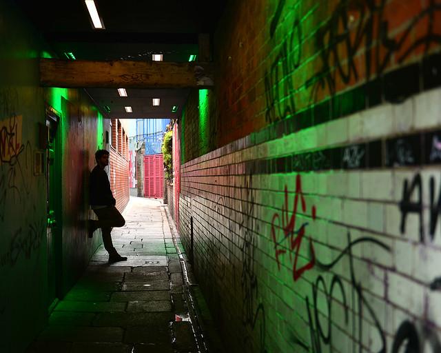 Callejón en Temple Bar, Dublín