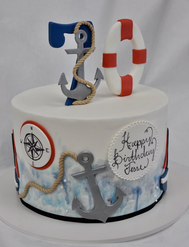 Nautical Birthday Cake Jenny Wenny Flickr